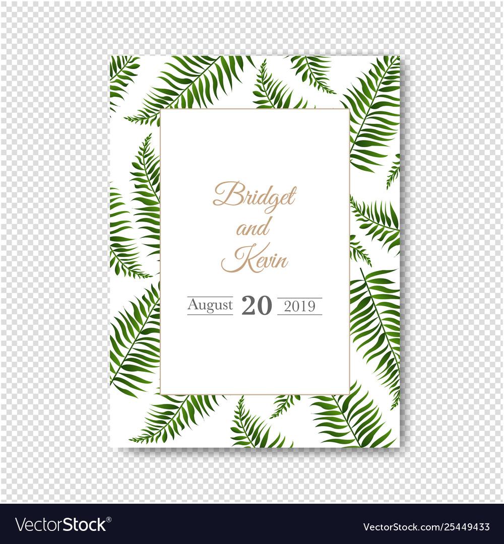 Wedding invitation isolated transparent background