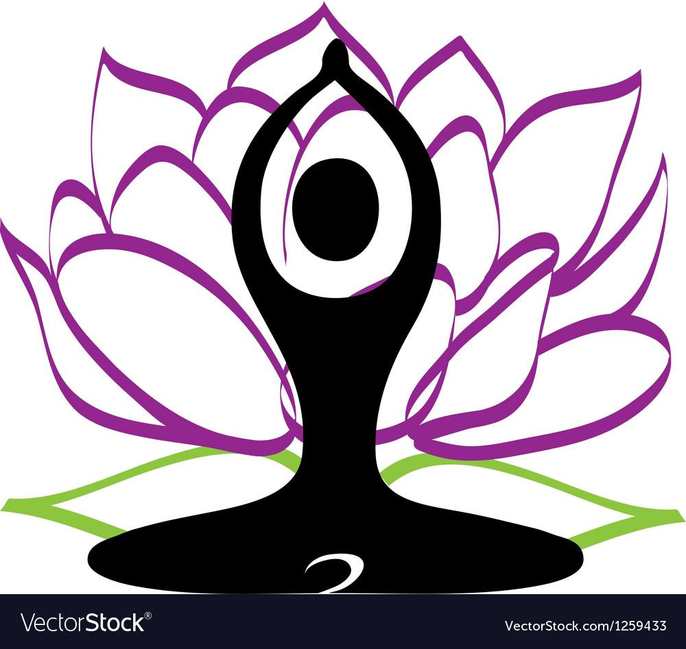 Yoga and lotus flower logo royalty free vector image yoga and lotus flower logo vector image izmirmasajfo