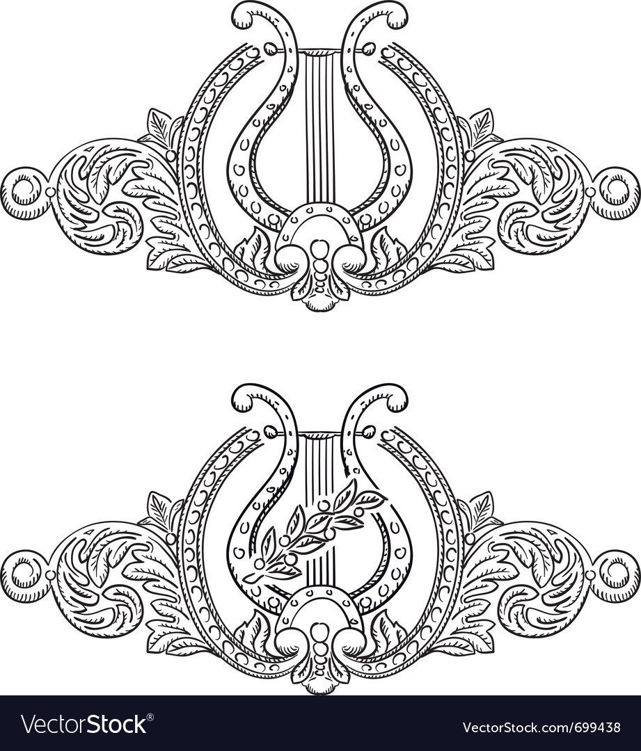 Ancient lyre vector image
