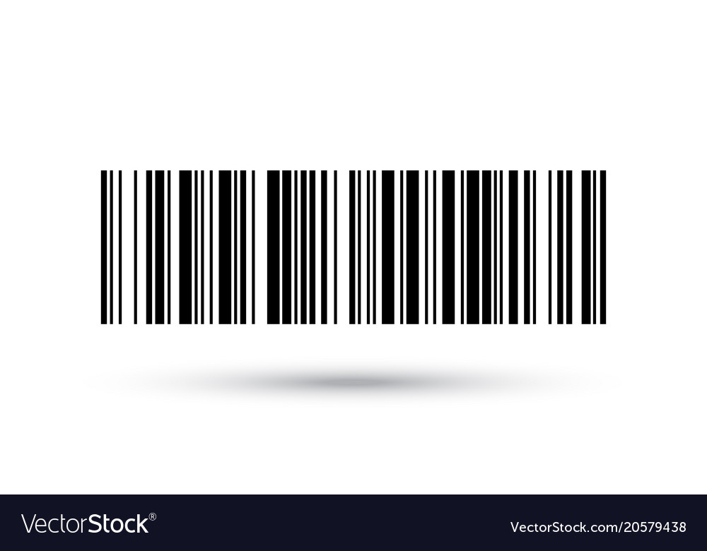 Barcode icon numbers bar code label