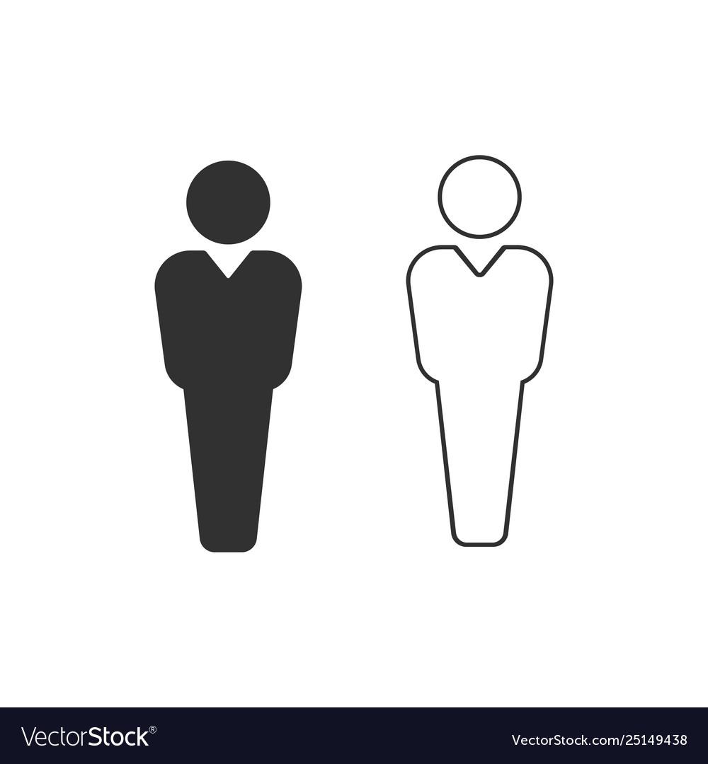 Black and white user icon user silhouette symbol