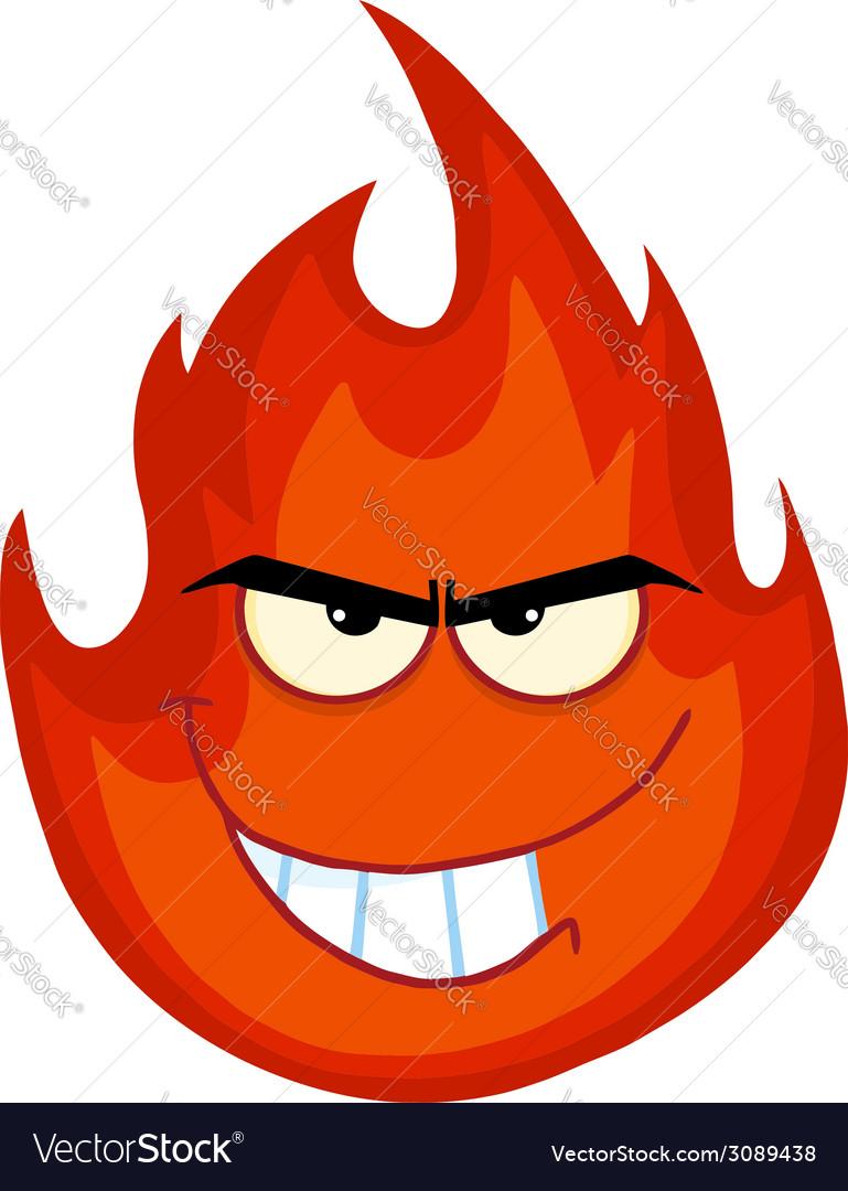 Картинка для детей огонь злой