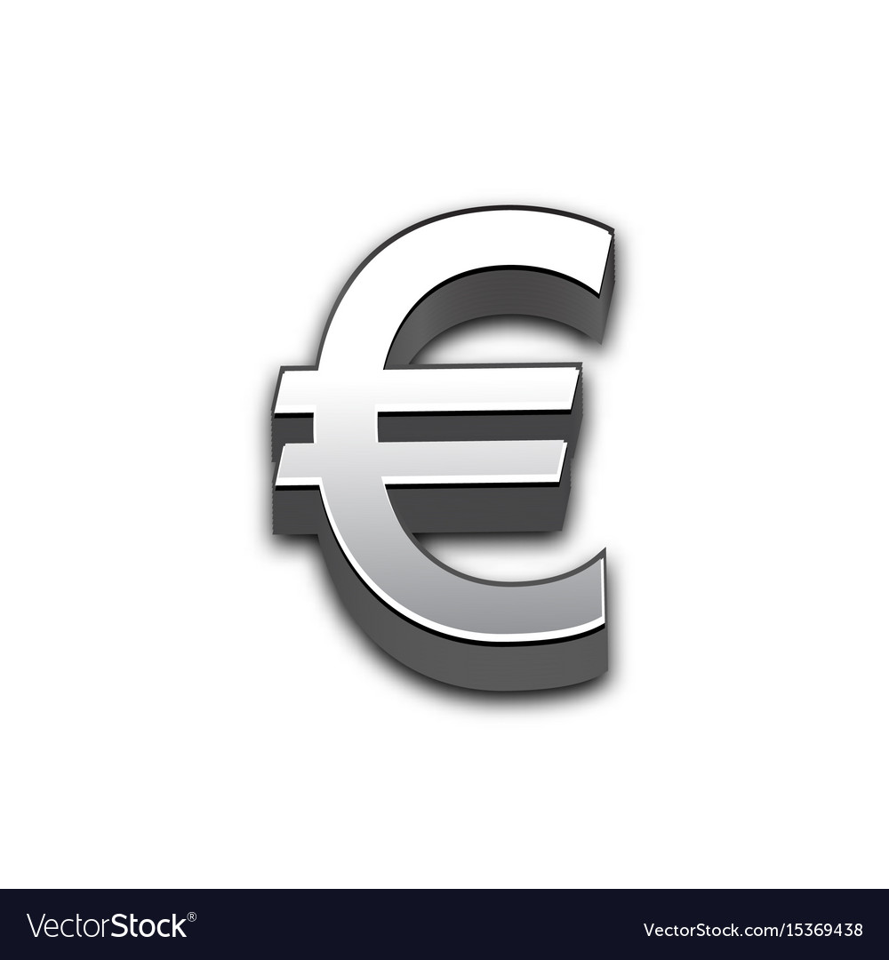 Euro 3d sign isolated