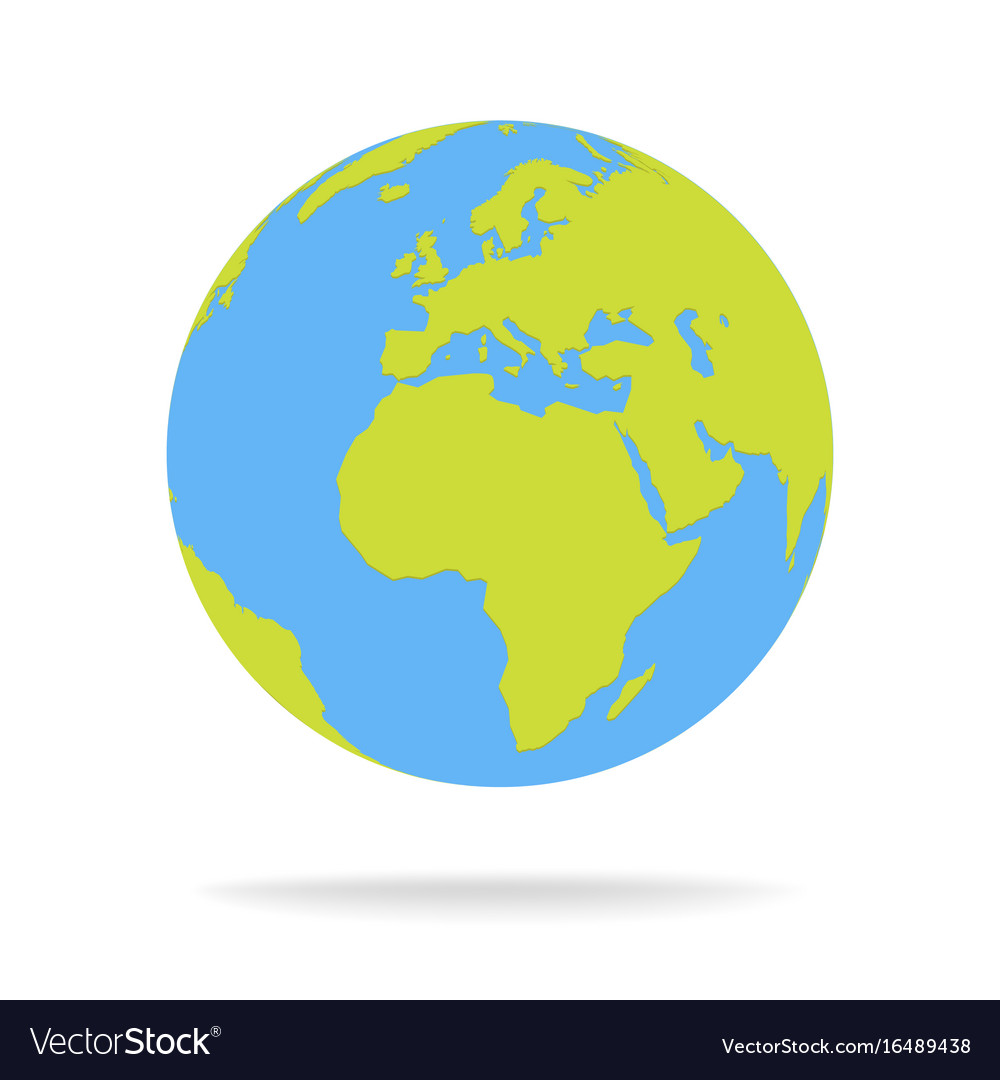World Map Globe Green and blue cartoon world map globe Royalty Free Vector World Map Globe