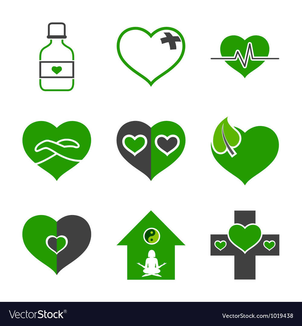 Health care and ecology symbols