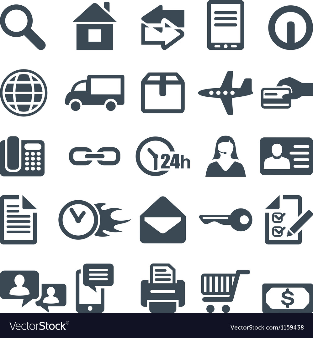 Icons for the web site or mobile app