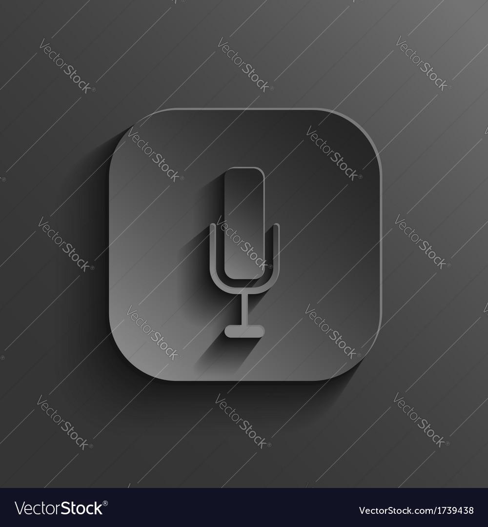Microphone icon - black app button