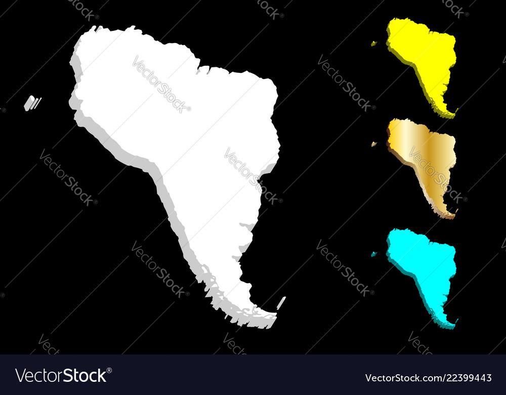 3d Map Of South America.3d Map Of South America