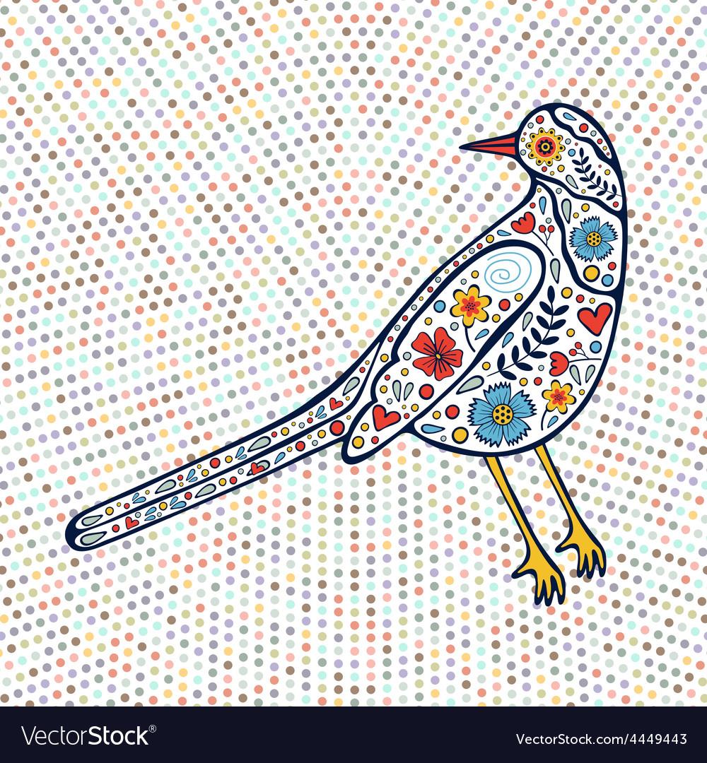 An of beautiful colorful bird