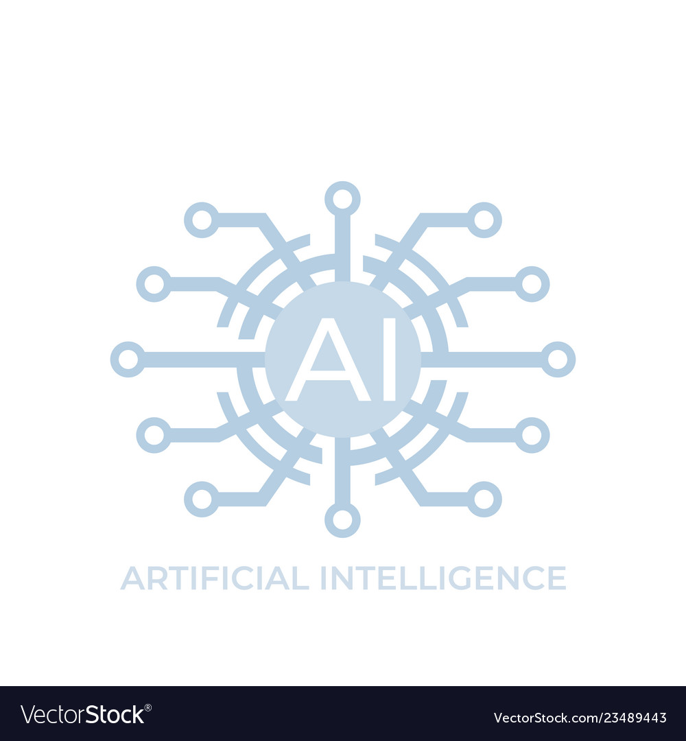 Artificial intelligence ai technology icon