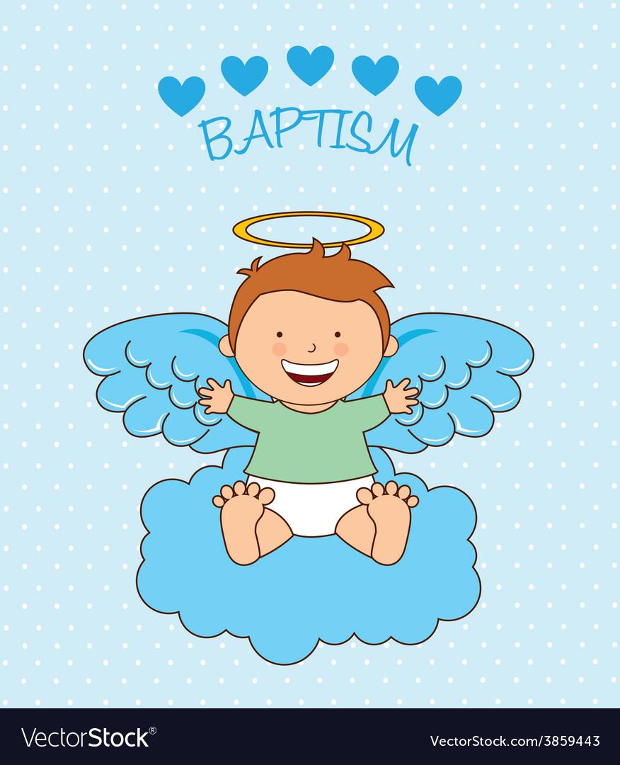 baptism angel design royalty free vector image