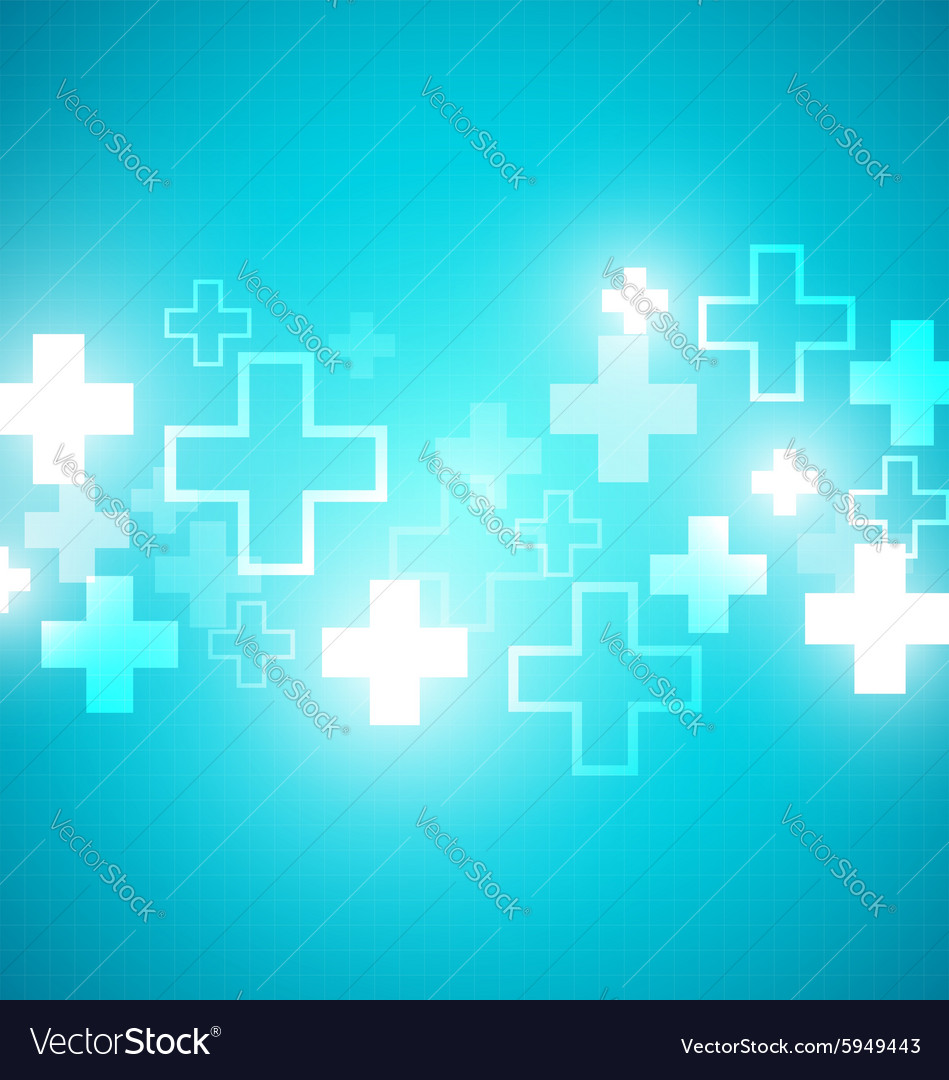Blue medical design vector image