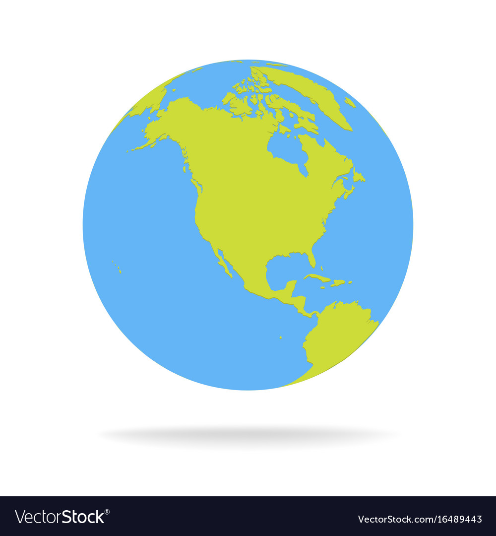 green and blue cartoon world map globe royalty free vector rh vectorstock com world globe vector free world globe vector cdr free download