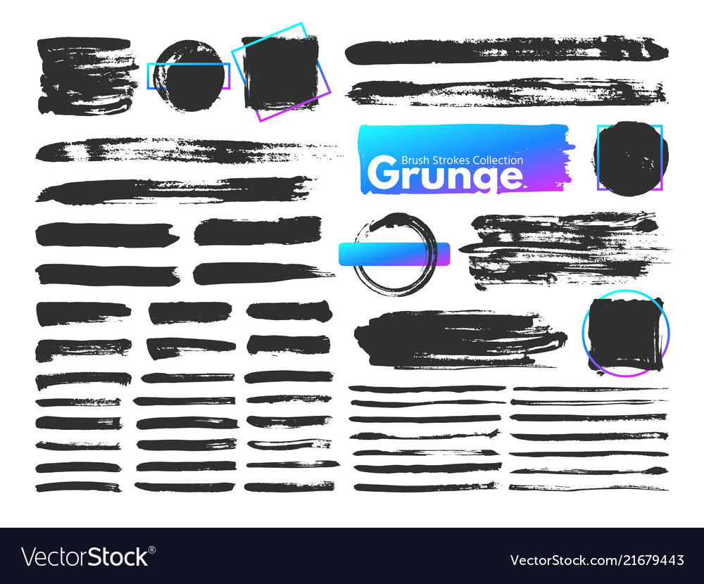 Grunge brush strokes watercolor paintbrush stroke