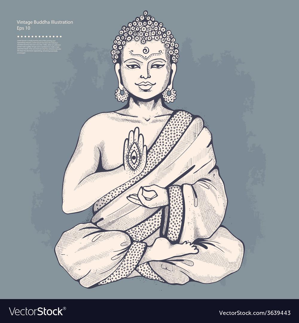 Vintage with buddha