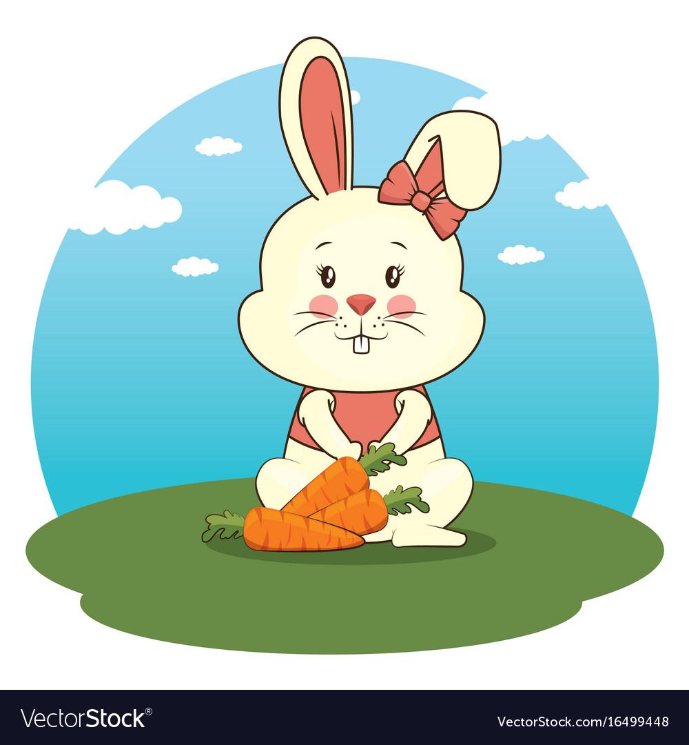 Cute adorable bunny animal cartoon