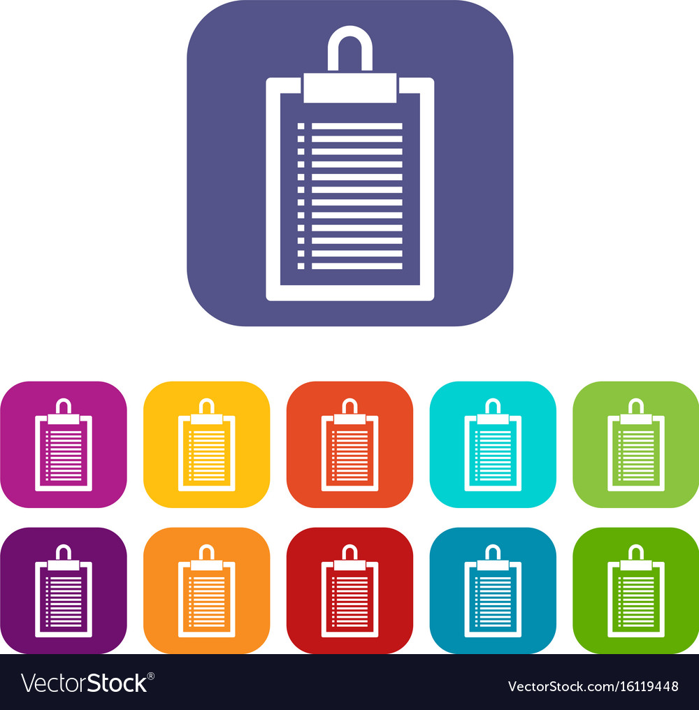 Document plan icons set