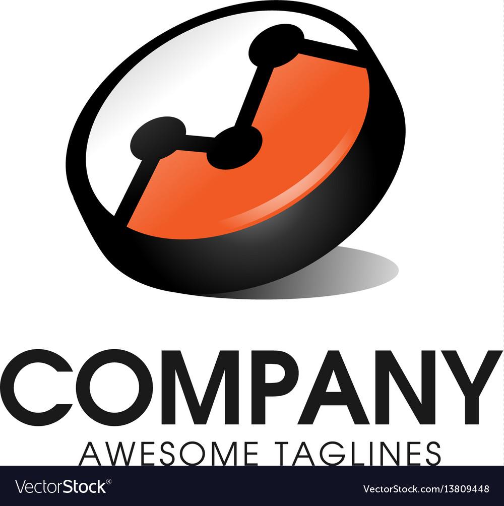 Finance chart bar business logo icon