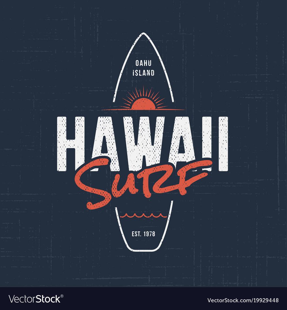 Hawaii surf t-shirt and apparel design