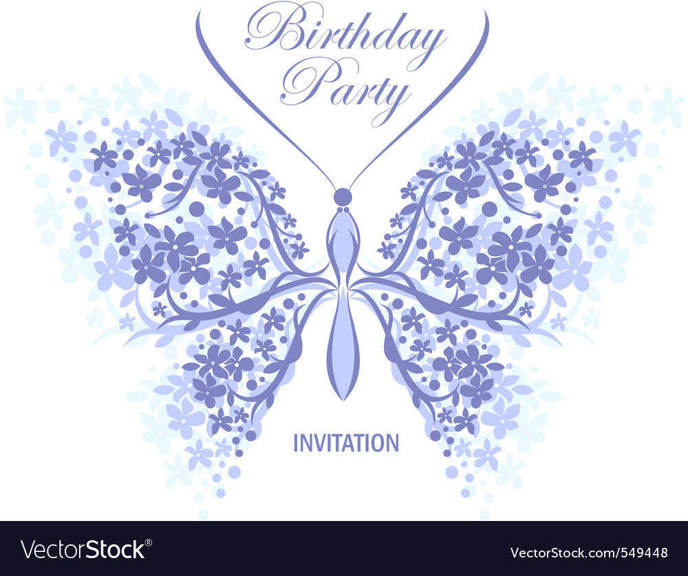 Invitation Design Butterfly Royalty Free Vector Image