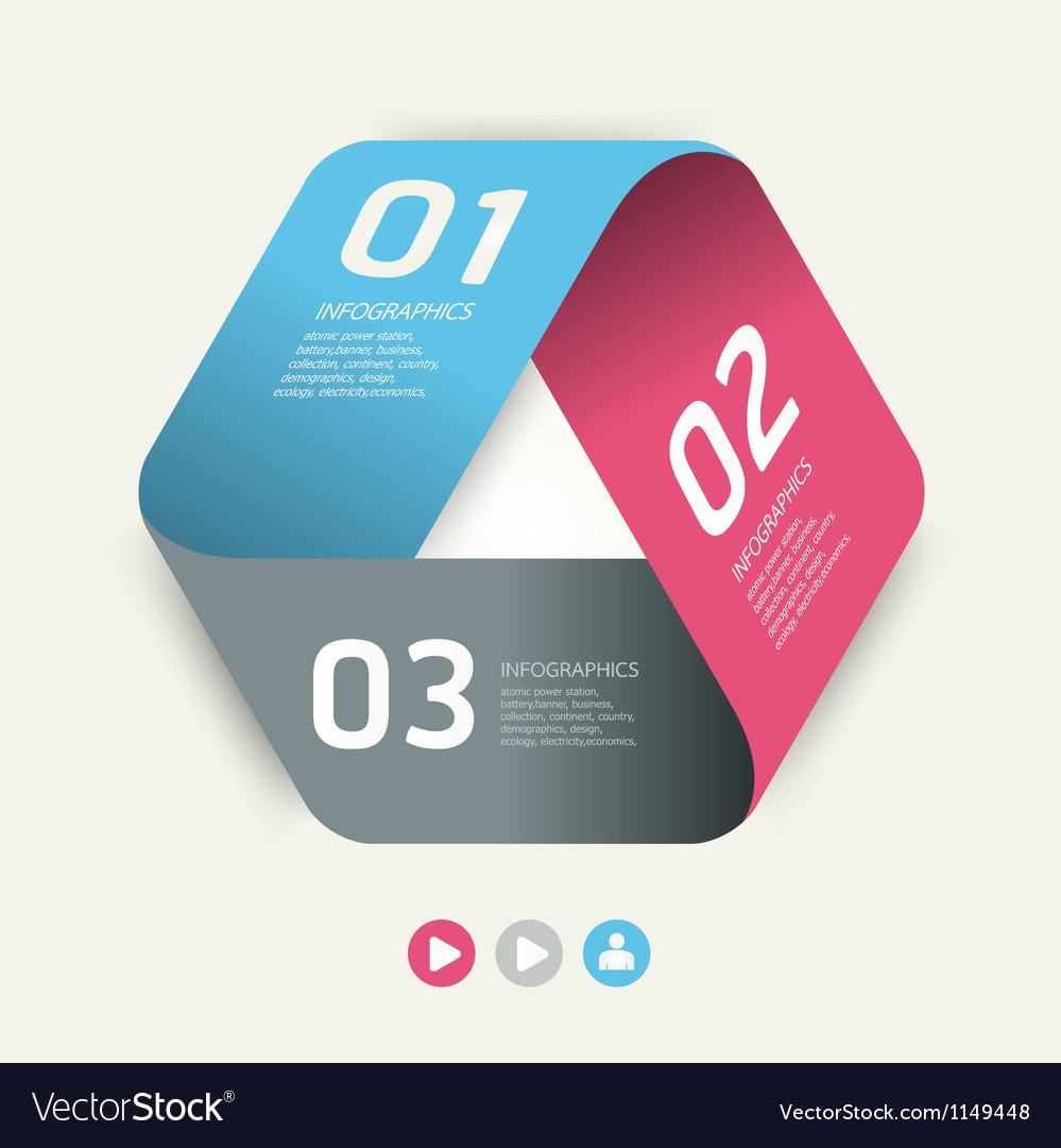 Modern Design template used for number banner vector image