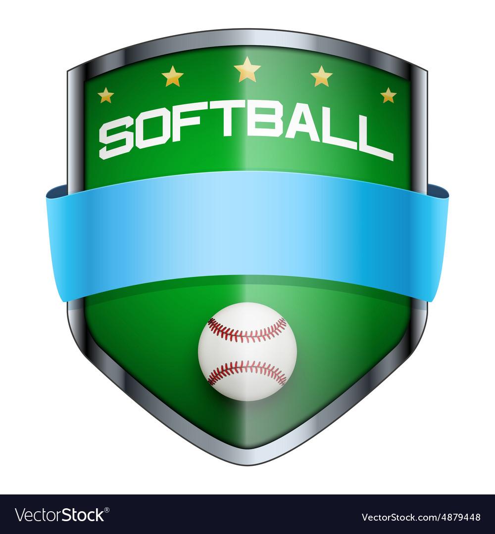 Softball Shield badge