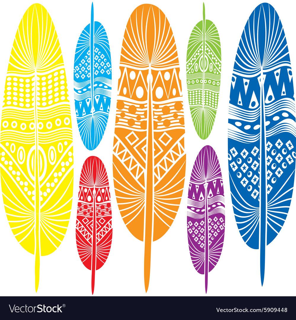 Stylized decorative feathers