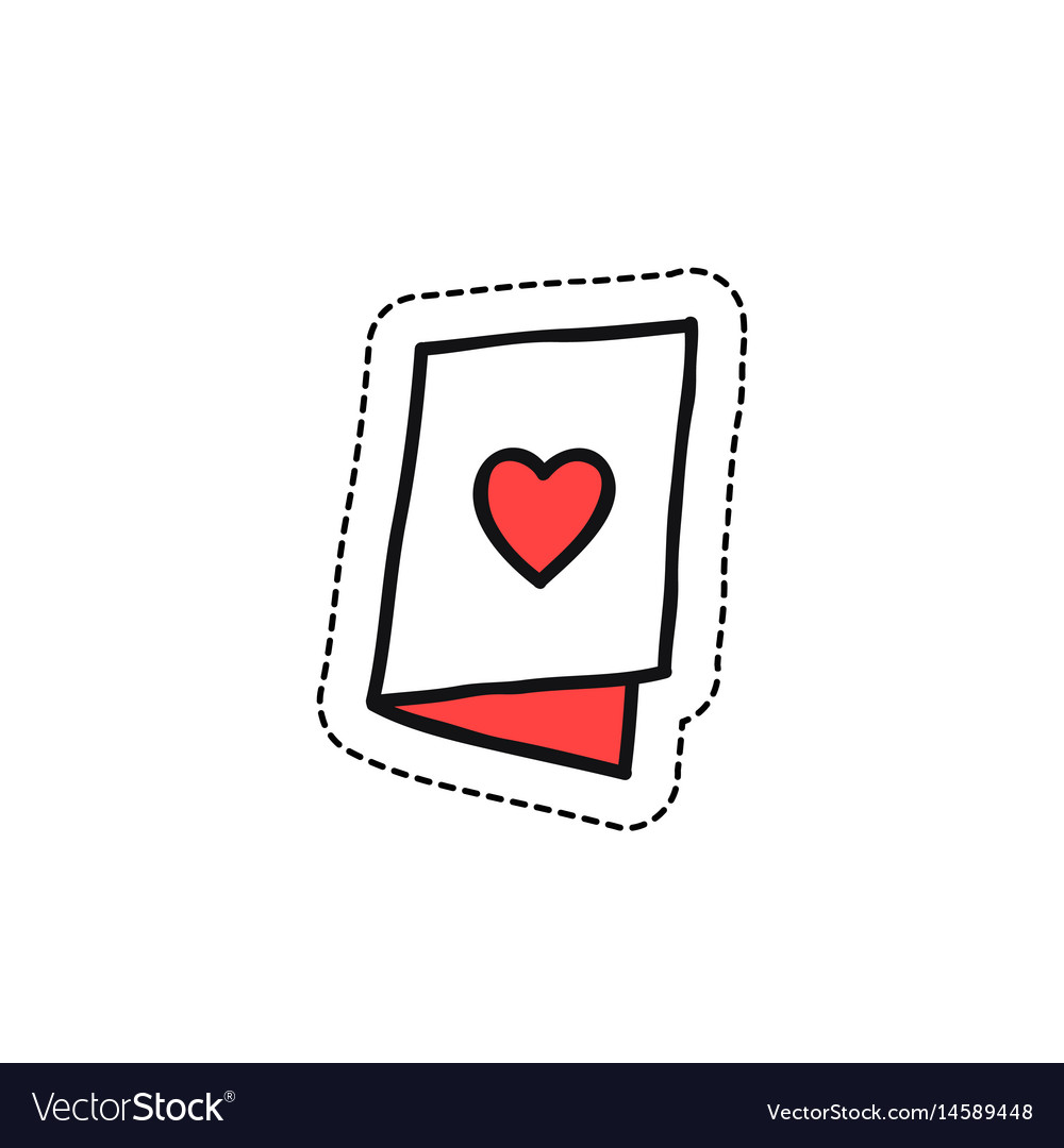 Valentine card doodle icon