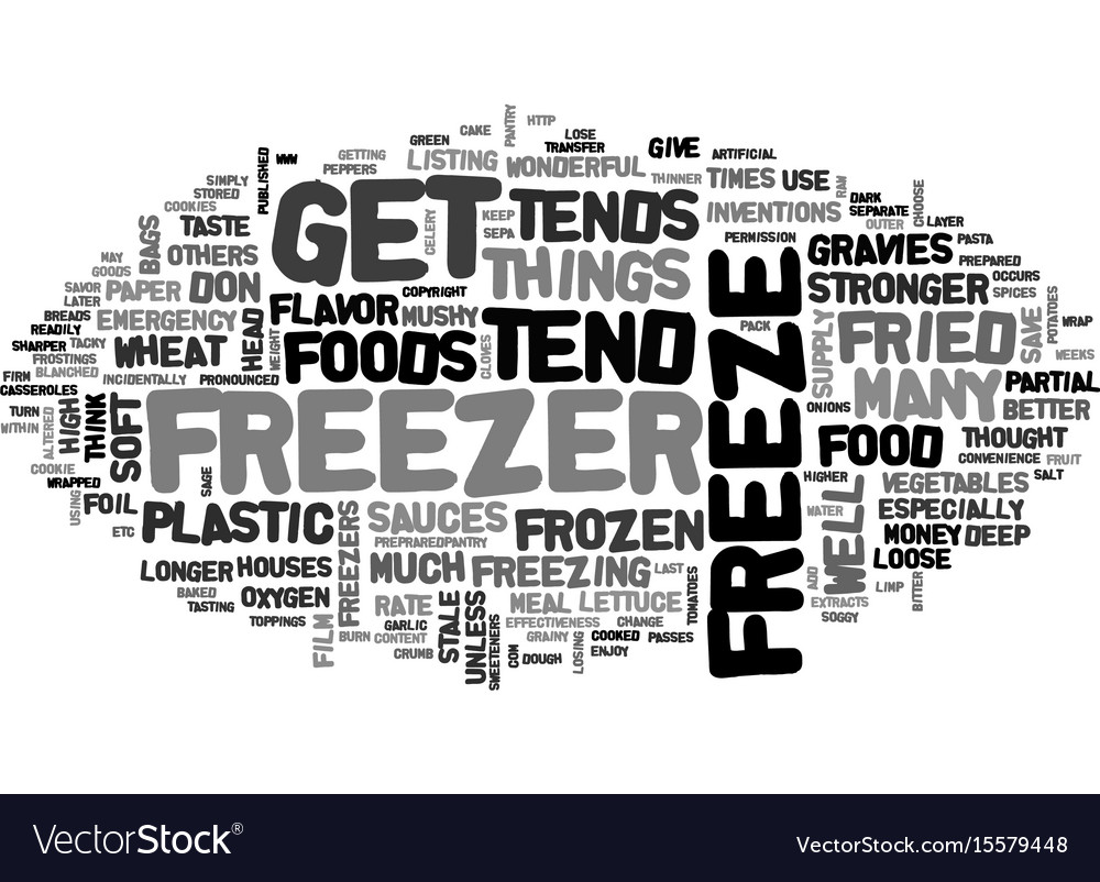 What not to freeze text word cloud concept vector image