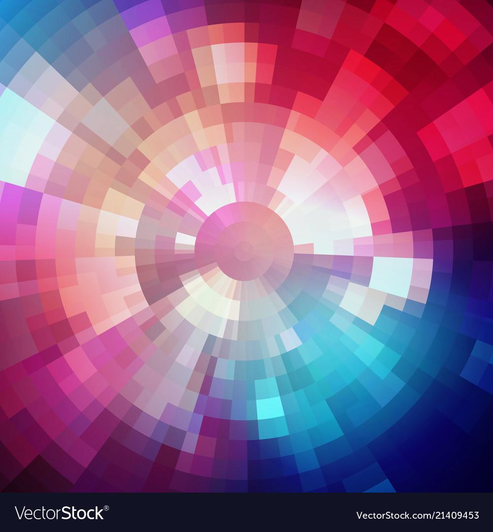 Abstract shining concentric mosaic