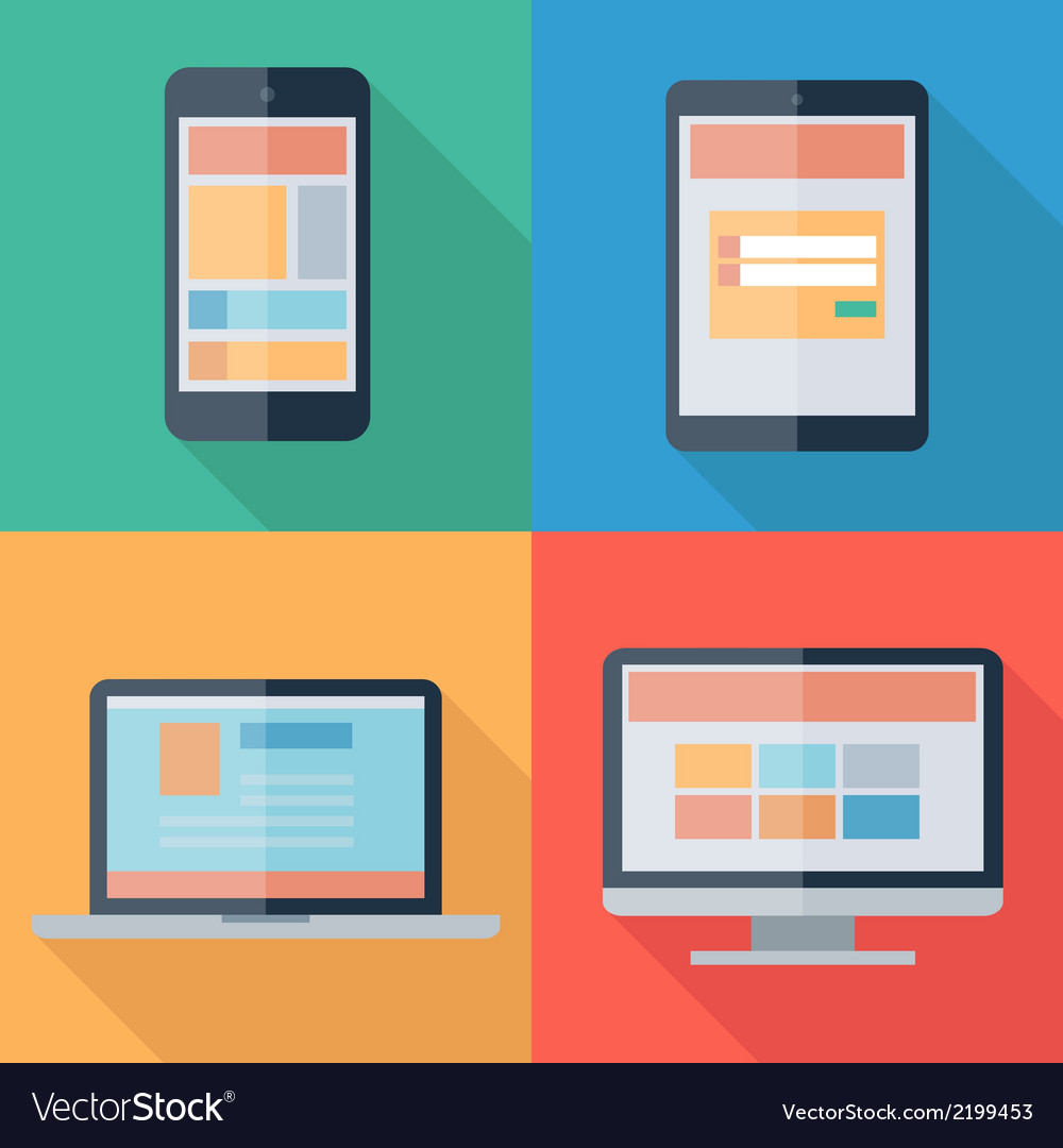 Adaptive web design on electronic devices phone