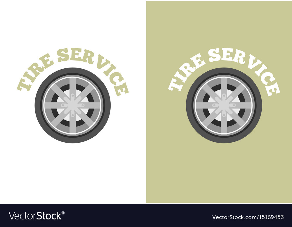 Automobile tire service logo