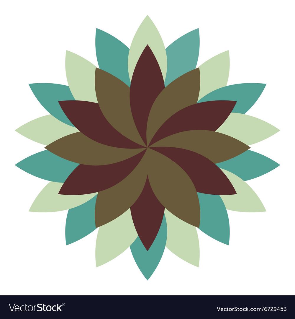 Beautiful lotus flower wheel mandala oriental vector image izmirmasajfo