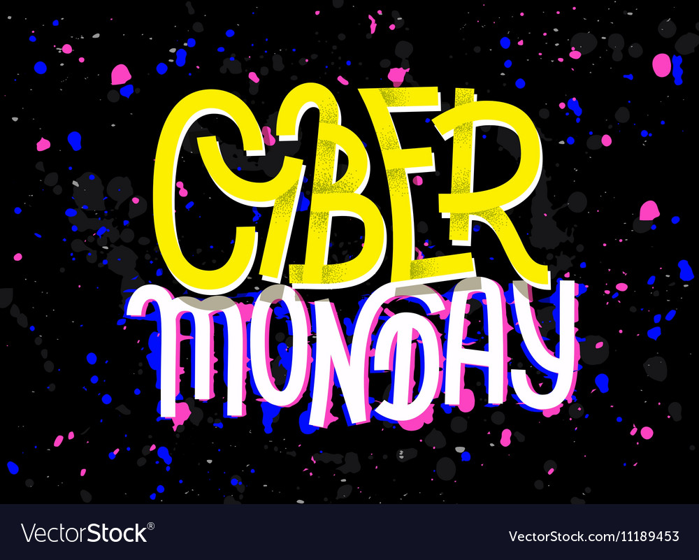 Cyber Monday lettering with a glitch effect