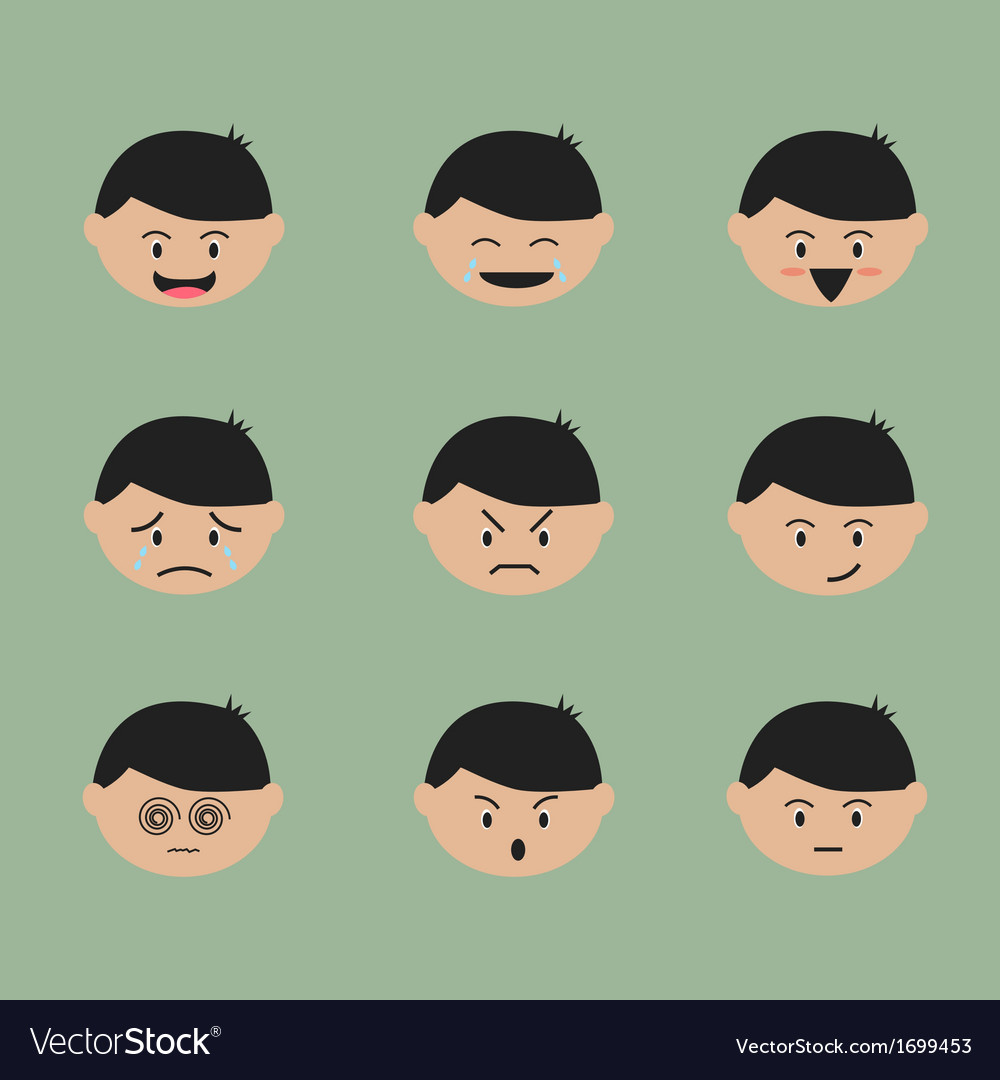 emotion face cartoon royalty free vector image