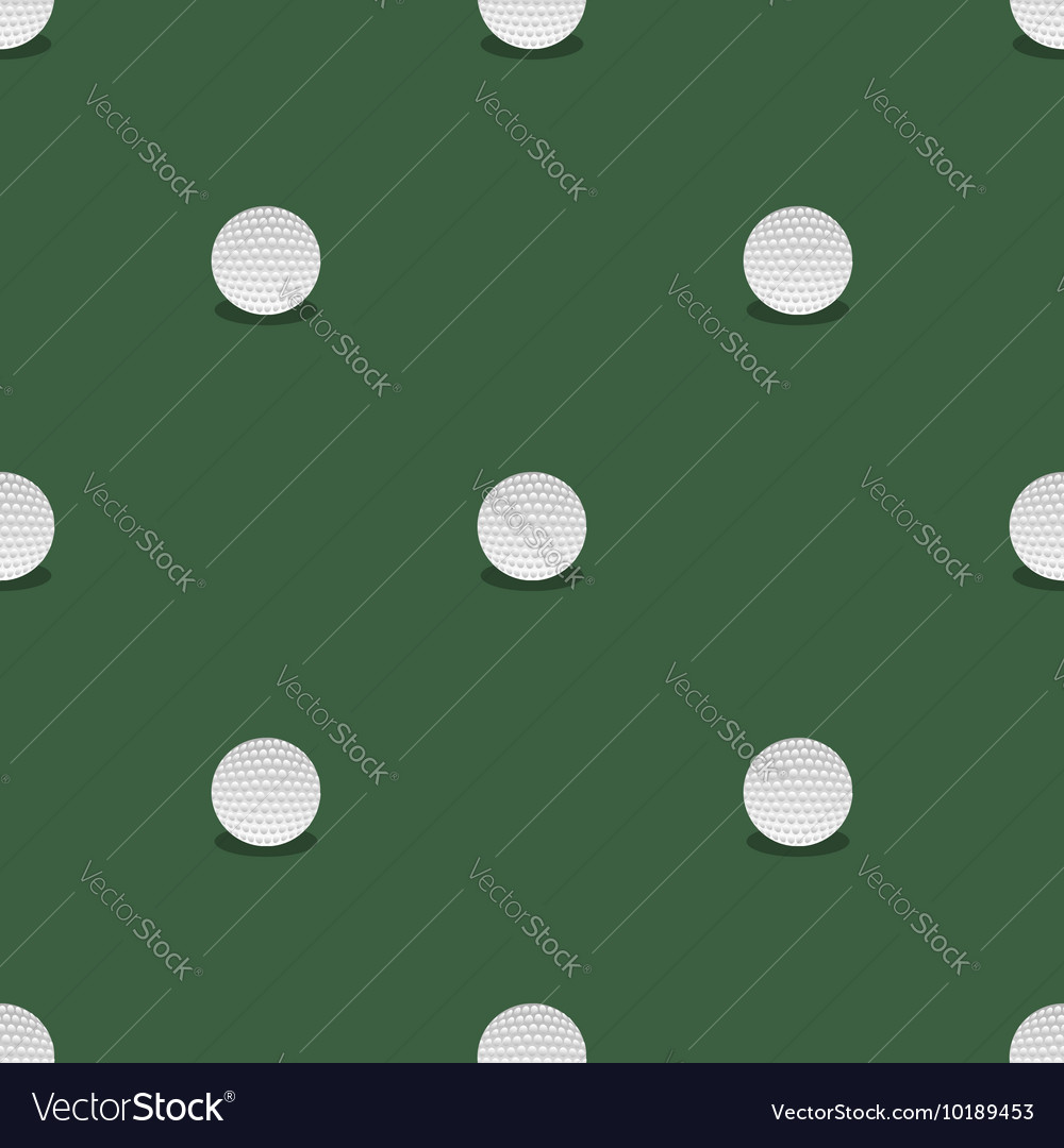 Golf Seamless Pattern Summer Sport Background