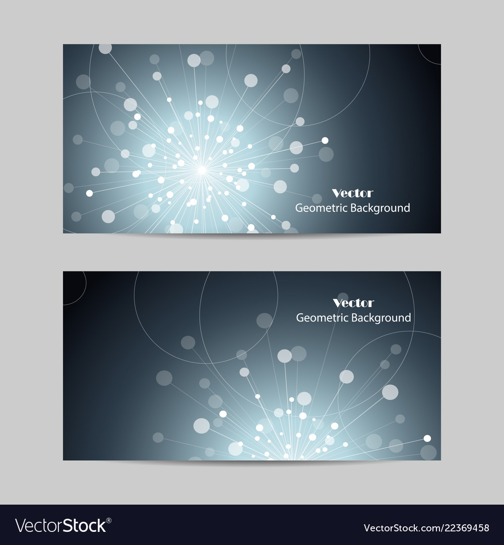 Abstract geometric design banner web