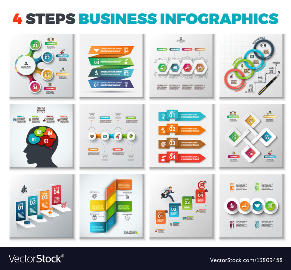 Abstract infographics number options template