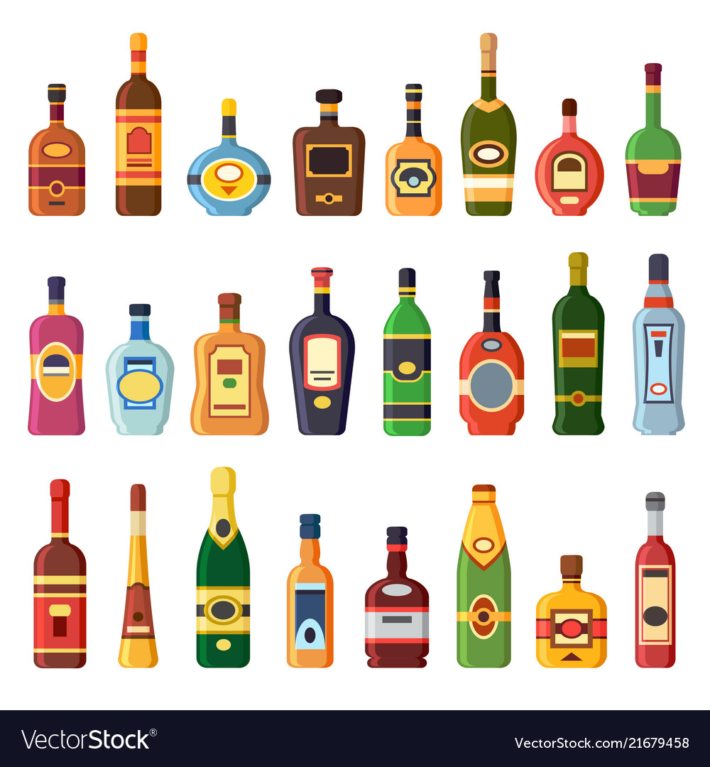 Alcohol bottles alcoholic liquor drink bottle