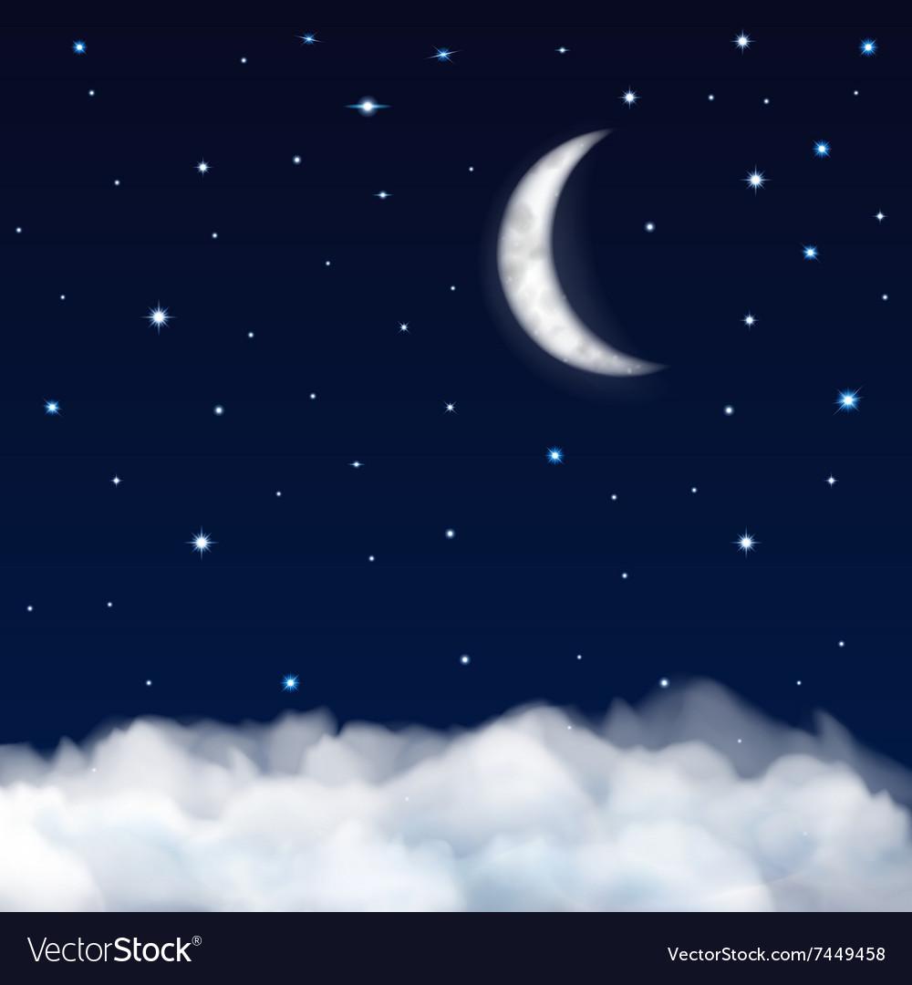 Background of night sky