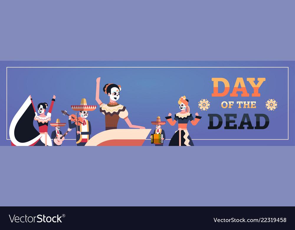 Day of dead traditional mexican halloween dia de