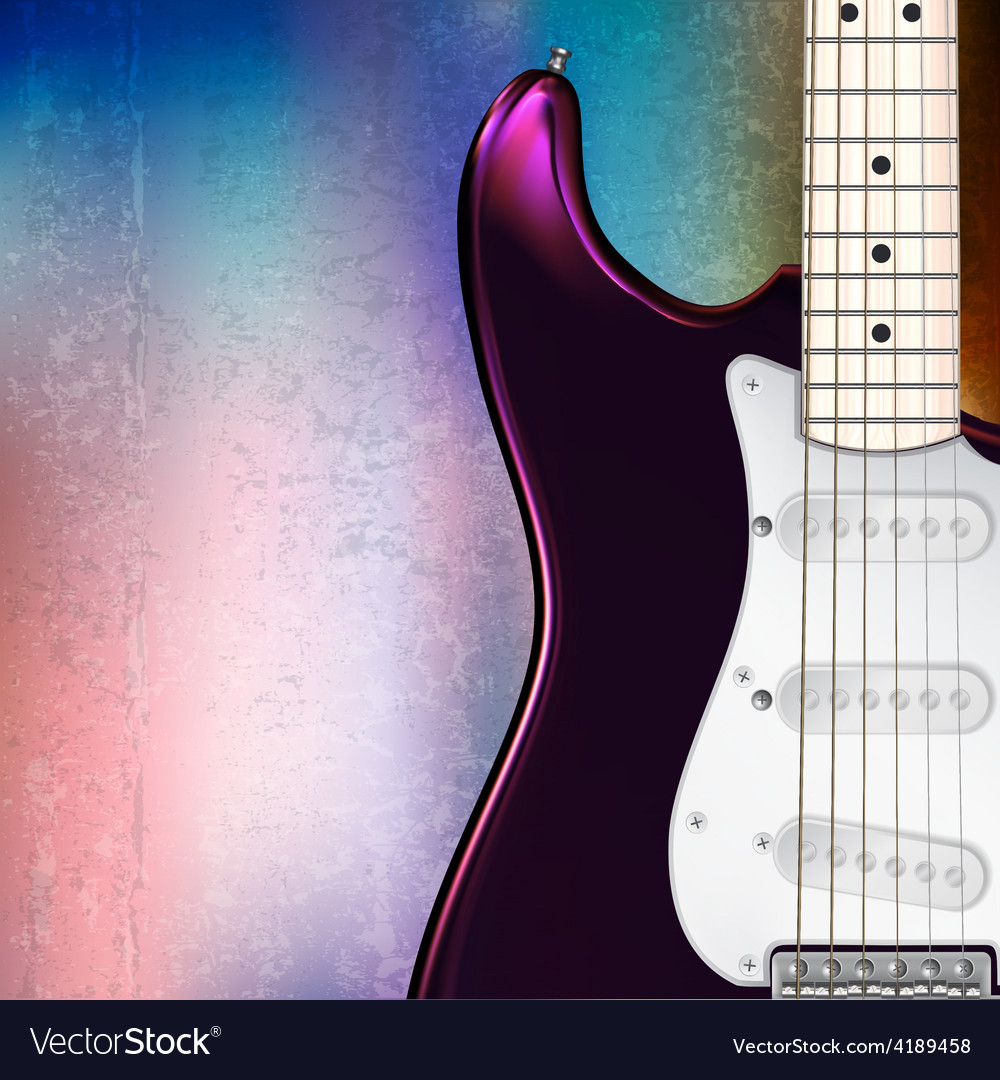 Grunge jazz rock background with electric guitar