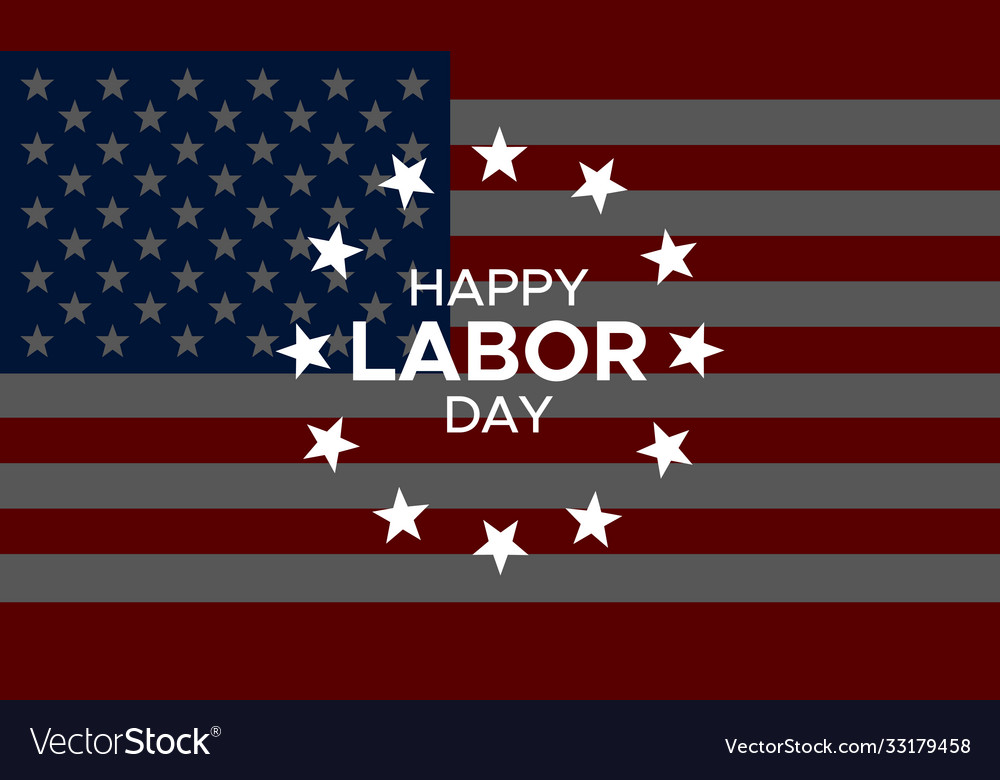 Happy labor day banner or greeting card