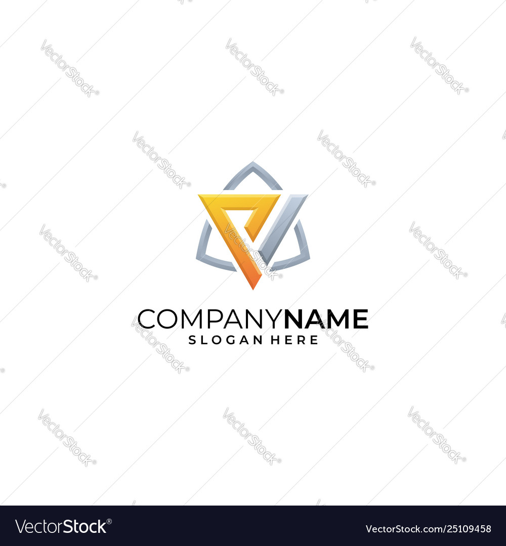 Letter p design template vector