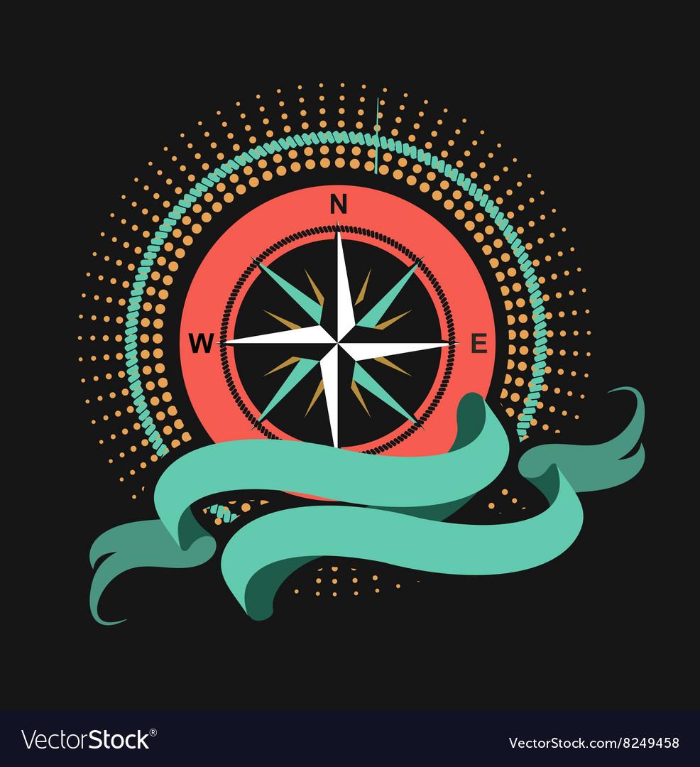 Marine emblem windrose