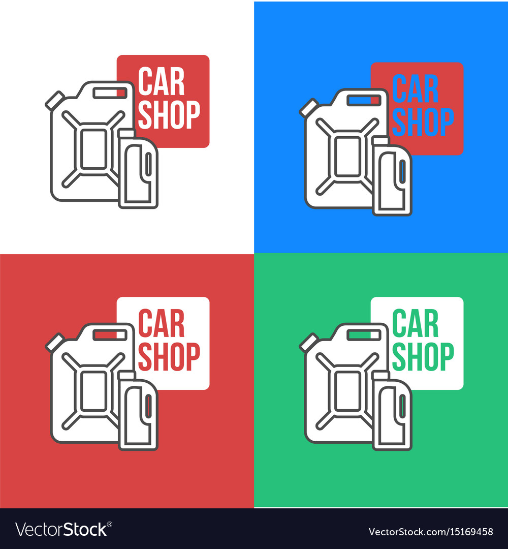 Online Car Oil Shop Icon Royalty Free Vector Image