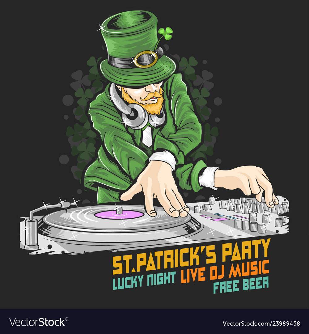 St patricks day dj party