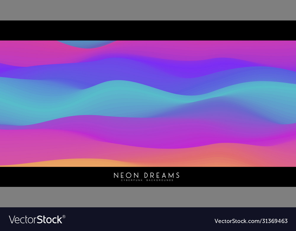 Abstract neon dreams background trendy