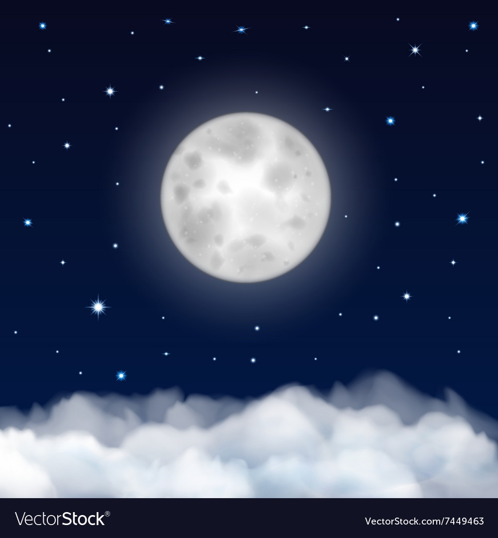 Background of night sky vector image