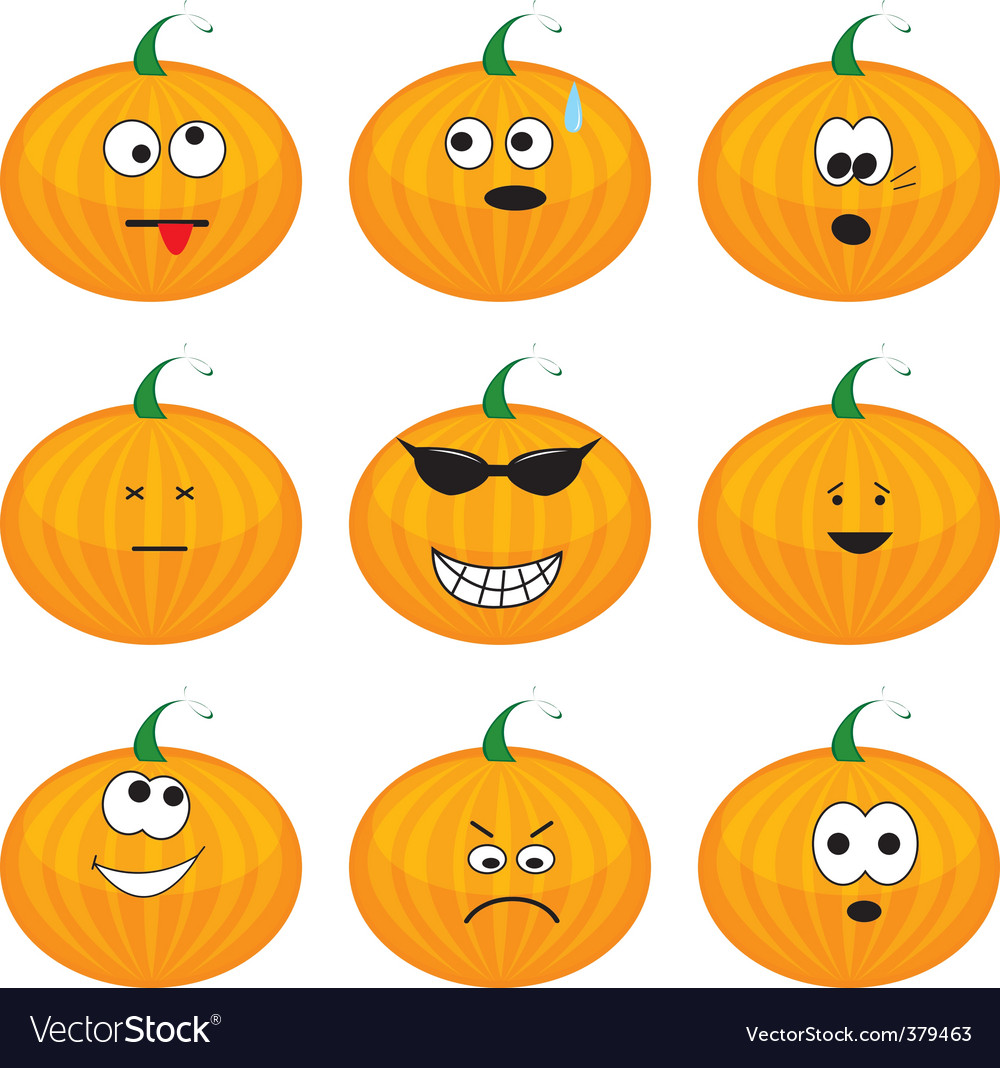 Cartoon pumpkins